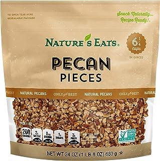 Nature's Eats Pecan Pieces, Natural, 24.0 Ounce