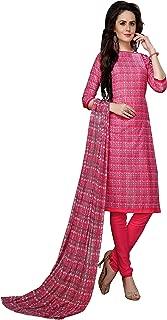 Minu salwar Cotton Printed Suit sets Pink(Elegance_2005)