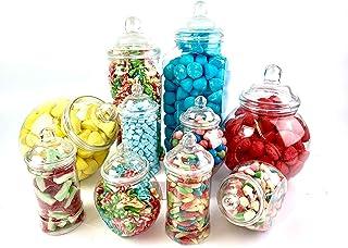 comprar comparacion Tarros (10 unidades, para tienda de chucherías, candy bar, kit para fiestas), diseño vintage victoriano, de ...