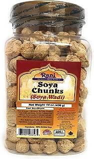 Rani Soya Chunks (High Protien) Vadi 14oz (400g) ~ Natural, Salt-Free | Vegan | No Colors | Gluten Free Ingredients | NON-GMO | Indian Origin | Meat Alternate Substitute