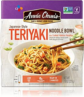 Annie Chun's Teriyaki Noodle Bowl, Non-GMO, Vegan, 7.8-oz (Pack of 6), Japanese-Style
