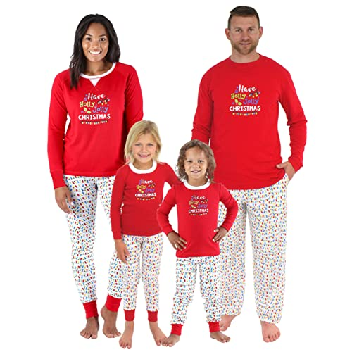 ee3152f6d3 Sleepyheads Family Matching Holly Jolly Christmas Lights Pajama PJ Sets