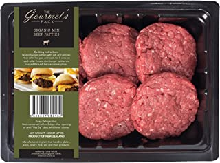 The Gourmet's Pack Organic Mini Beef Patties, 360g (Pack of 6) - Chilled