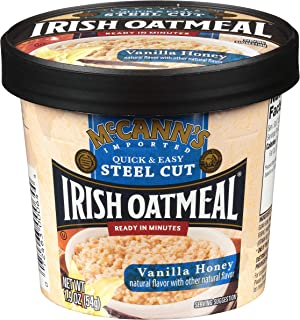 McCann's Irish Oatmeal Vanilla Honey Microwaveable Cup, 1.9 Ounce (Pack of 12)