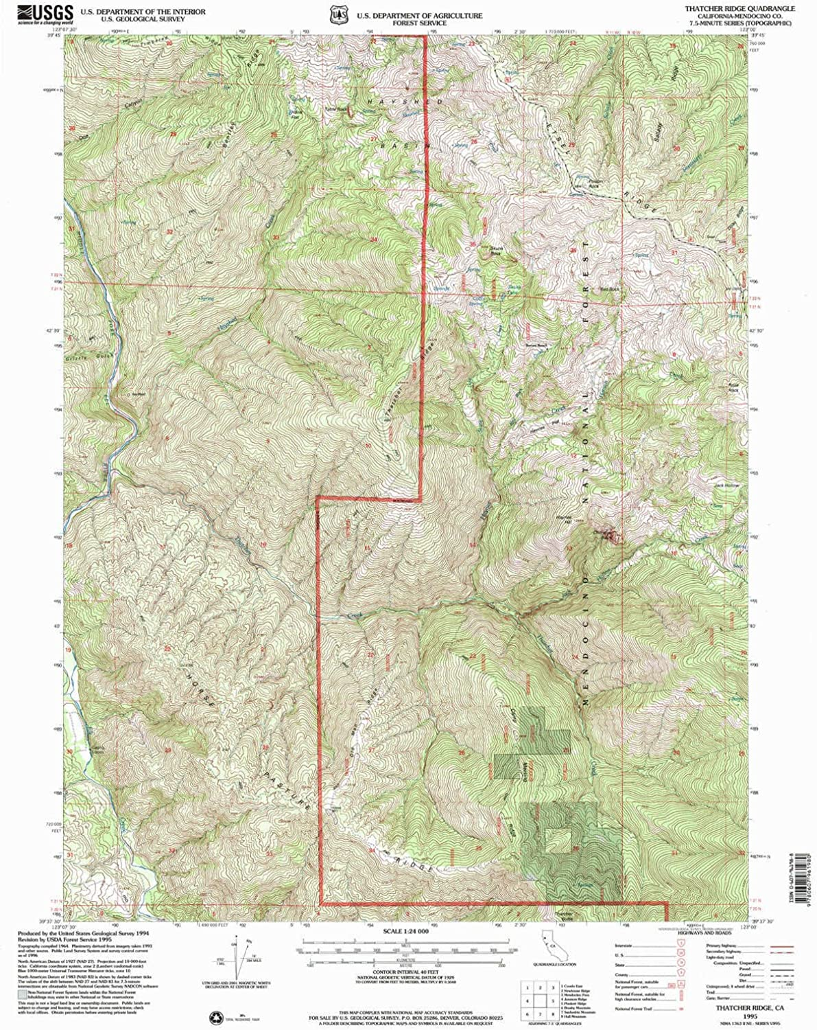 Thatcher Ridge CA topo map, 1 24000 Scale, 7.5 X 7.5 Minute, Historical, 1995, Updated 2001, 26.6 x 21 in