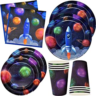 Outer Space Birthday Party Plates and Napkins 4 9