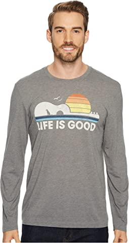 Life is Good - Guitar Dog Life Is Good® Long Sleeve Cool Tee