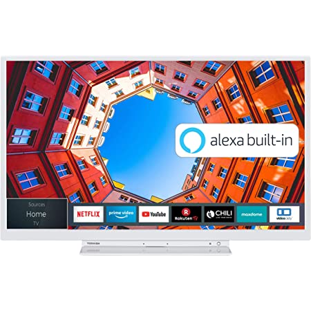 Toshiba 32wk3c64da 32 Zoll Fernseher Hd Ready Smart Tv Prime Video Netflix Alexa Built In Bluetooth Wlan Triple Tuner Weiß Heimkino Tv Video