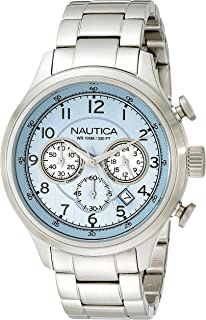Nautica Men's N19631G NCT 16 Analog Display Japanese Quartz Silver Watch