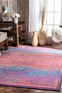 nuLOOM Danyel Vintage Area Rug, 8' x 10', Purple
