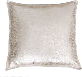"""Thro TH015225002E Charlie Crackle Whipstitch Pillow, 22"""" x 22"""", Light Gold"""