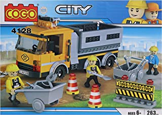Perpetual Bliss Construction Truck Building Blocks for Kids