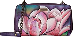 1144 ZIP AROUND RFID CROSSBODY CLUTCH