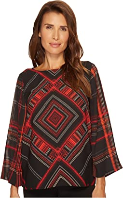 Vince Camuto - Diamond Plaid Blouse