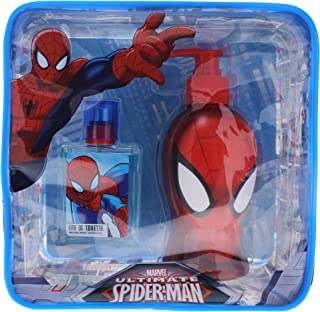 Marvel Ultimate Spider Man for Kids 2 Piece Gift Set with Edt Spray, Shower Gel and Toiletry Bag Gift
