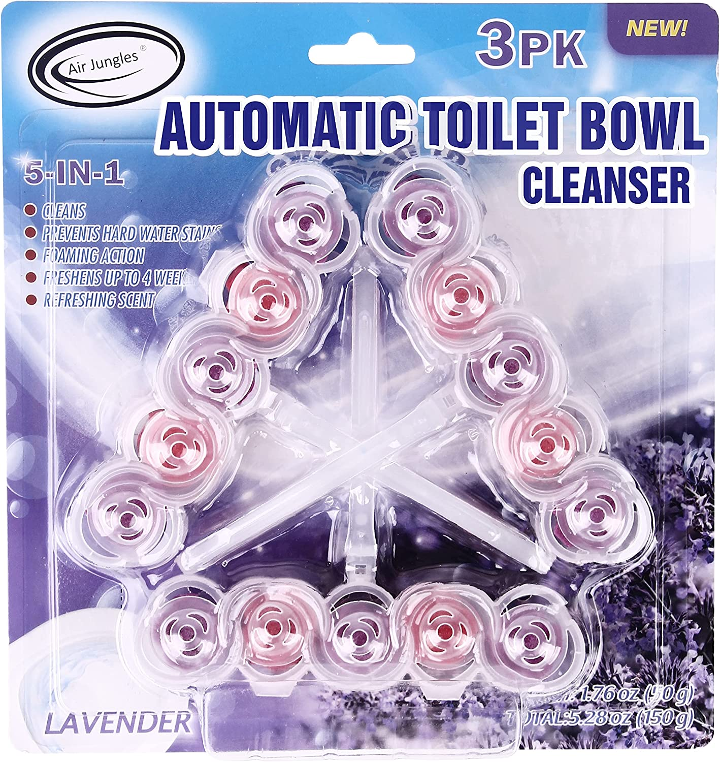 Air Jungles 5-in-1 Automatic Toilet S Hanger Clear Lavender Rim Brand Cheap Sale Venue Popular products