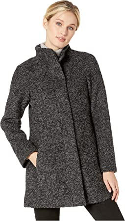 Boucle Stand Collar Coat
