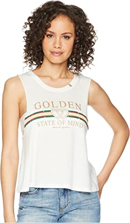 Spiritual Gangster Golden State Crop Tank Top