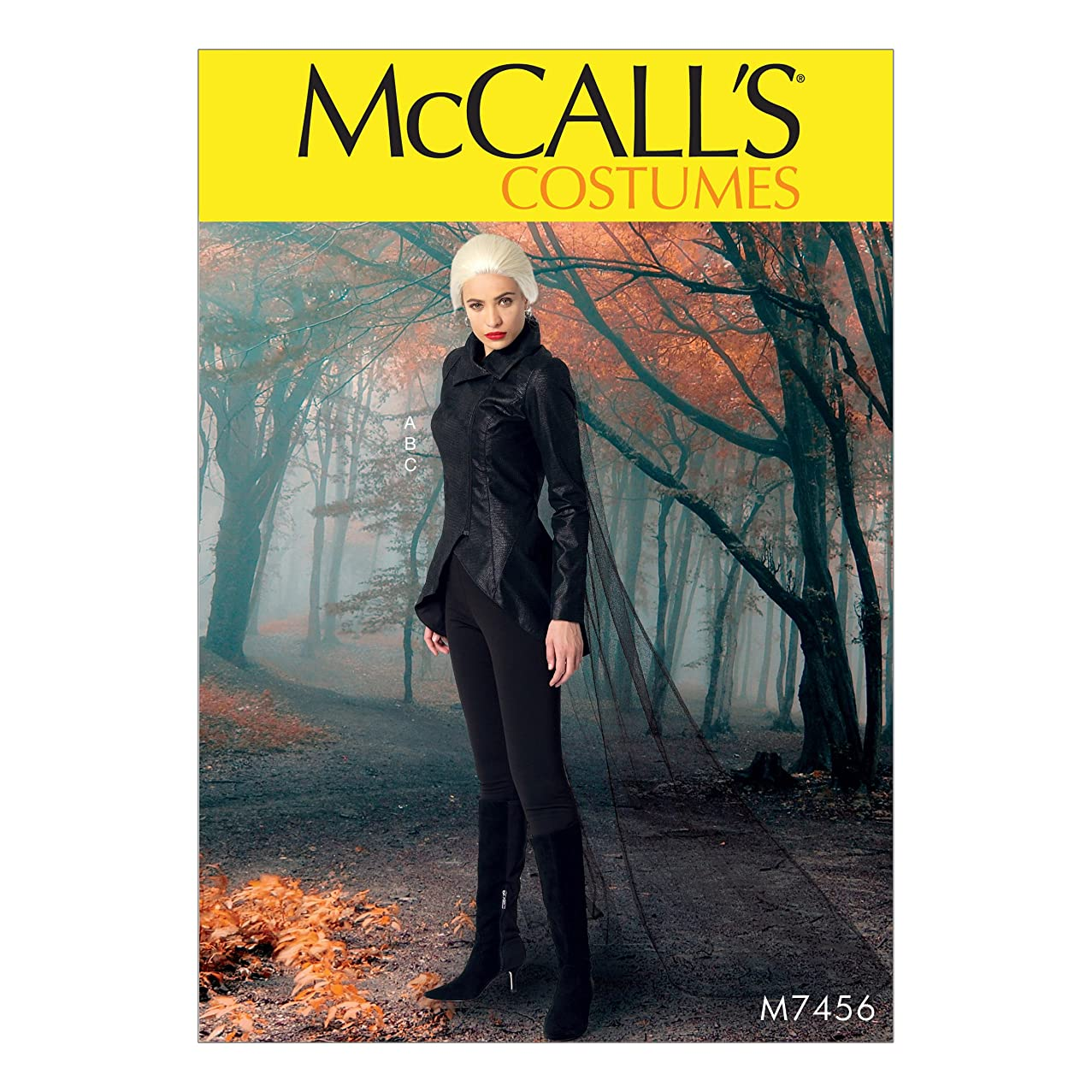McCall's Patterns M7456E50 Misses' Seamed Jacket Stirrup Leggings and Cape Sewing Pattern, E5 (14-16-18-20-22)