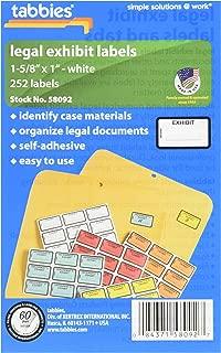 Tabbies Legal Exhibit Label SRTAB58092 252 Labels