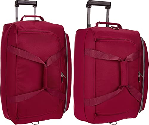 Cardiff Polyester 63 5 Cms Red Travel Duffle Cardiff Polyester 52 Cms Red Travel Duffle DFTCAR62RED DFTCAR52RED