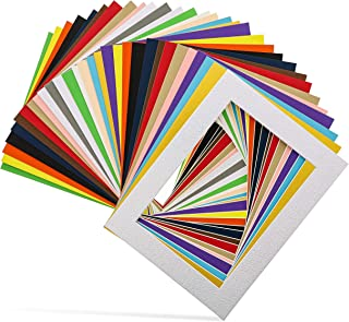 Bright Creations 30-Pack 6.5 x 8.5 Inch Picture Matted Frame Boards for 5x7 Photos, Assorted Colors