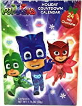 Holiday Advent Calendar Chocolates for Christmas, 24 Chocolate Days til' Christmas, Countdown Chocolate Calendar for Kids, Season Treats, Gift Ideas, Sweet Presents (PJ Mask)