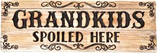 Spoontiques Grandkids Spoiled Here Desk Sign