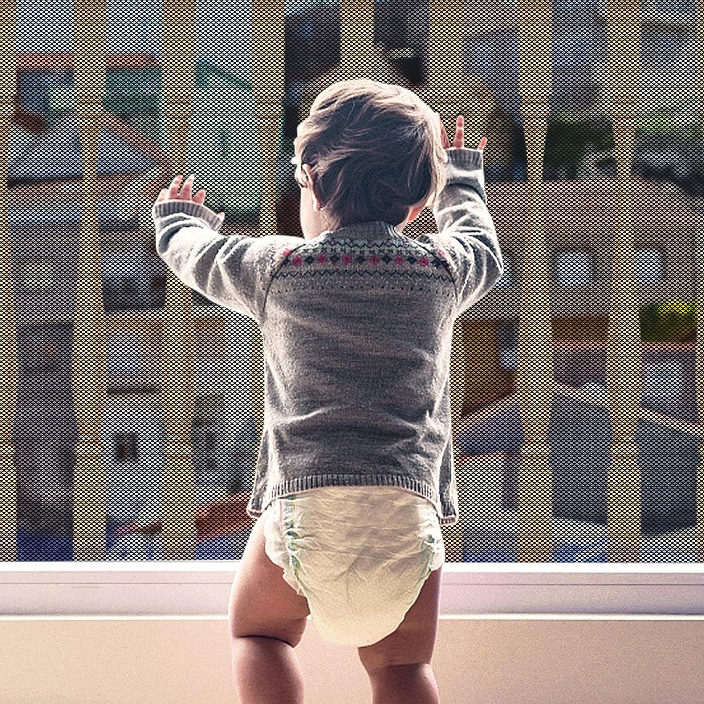 Yiomxhi Red de seguridad para niños, Red de seguridad para balcones y escaleras para bebés, Malla para cercas de barandillas de escaleras para niños y juguetes (9.8ft Lx2.5ft H) malla seguridad niños