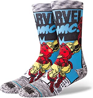 Marvel Iron Man Comic Everyday Light Cushion Calcetines Hombre Gris