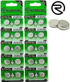 Rayverstar LR1130 AG10 1.5V Alkaline Batteries (20) Fits: L1131, 189, 389, 390, 534, 554, 603 (List Below)
