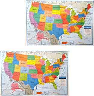Pack of 2 Superior Mapping Company United States Poster Size Wall Map 40