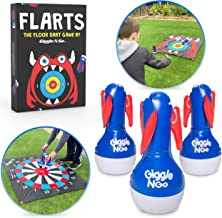 GIGGLE N GO Lawn Darts Outdoor Games for Family - FLARTS, Original Lawn Games for Kids - Quality Backyard Games for Adults and Kids - Our Inflatable Dart Games are Safe Indoor Outdoor Games for Kids