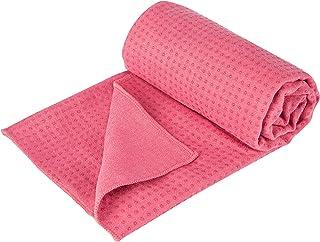 Ultrasport Halkfritt skydd för gymnastikmattor, halkfri yogahandduk med noppor, tillverkad av mjuk mikrofiber, halkfri han...