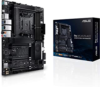 ASUS AMD AM4 Pro WS X570-Ace ATX Workstation placa base con 3 PCIe 4.0 X16, Dual Realtek e Intel Gigabit LAN, DDR4 ECC Memory Support, Dual M.2, U.2 y Control Center
