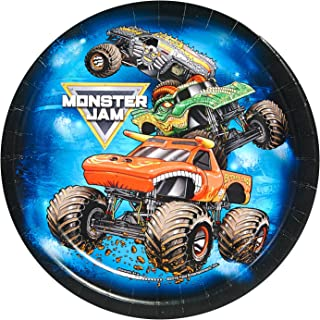 BirthdayExpress Monster Jam Party Supplies - Dessert Plate (24)