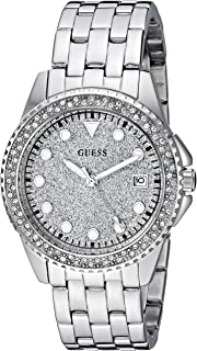 GUESS Women's Quartz Watch with Stainless-Steel Strap, Silver, 36 (Model: U1235L1)