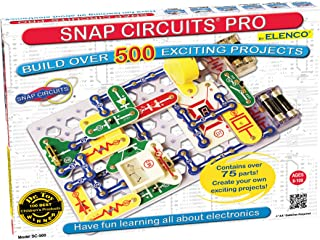 Snap Circuits Pro SC-500 Electronics Exploration Kit | Over 500 Projects | Full Color Project Manual | 75+ Snap Circuits Parts | STEM Educational Toy for Kids 8+