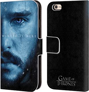 Official HBO Game of Thrones Jon Snow Winter is Here Leather Book Wallet Case Cover Compatible for iPhone 6 / iPhone 6s