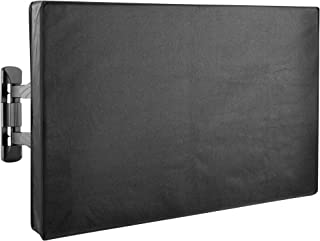 VIVO Flat Screen TV Cover Protector with Zippers for 55 to 58 inch Screens | Universal, Outdoor, Weatherproof, Water Resistant (COVER-TV055ZB)