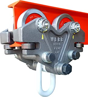Beam Trolley - Super Heavy Duty 2 Ton (4,000 Pounds Capacity) Jervis Webb Industrial Grade Hand Push Conveyor Trolley for I-beams / Chain Hoists. Industrial grade for production conveyor systems.