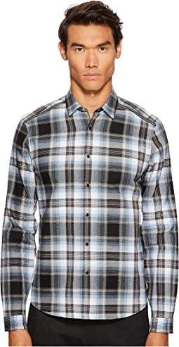 The Kooples - Check Shirt with An Officer Collar and Piping Detail