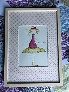 Handmade Original Watercolor Painting: Emma Doll by Plaff Stories