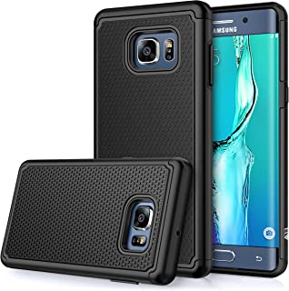 E LV Case for Galaxy S6 Edge Plus (Shock Proof Defender) Slim Case Cover Full Protection from Drops and Impacts for Samsung Galaxy S6 Edge Plus [Black]