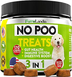 FurroLandia No Poo Treats - Coprophagia Stool Eating Deterrent for Dogs – Made in USA – Stop Eating Poop for Dogs - Probio...