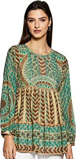 Women's Viscose & Georgette Flared Kurta