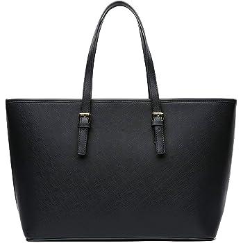 Schwarz NEWHEY Handtasche Damen Shopper Damen Große Schwarz Gross Laptop