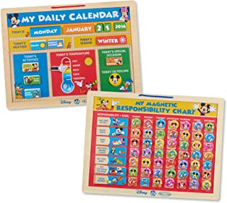 Melissa & Doug Disney Mickey Mouse Clubhouse Magnetic Calendar and Responsibility Chart Set With 170+ Magnets to Track Schedules, Tasks, and Behaviors