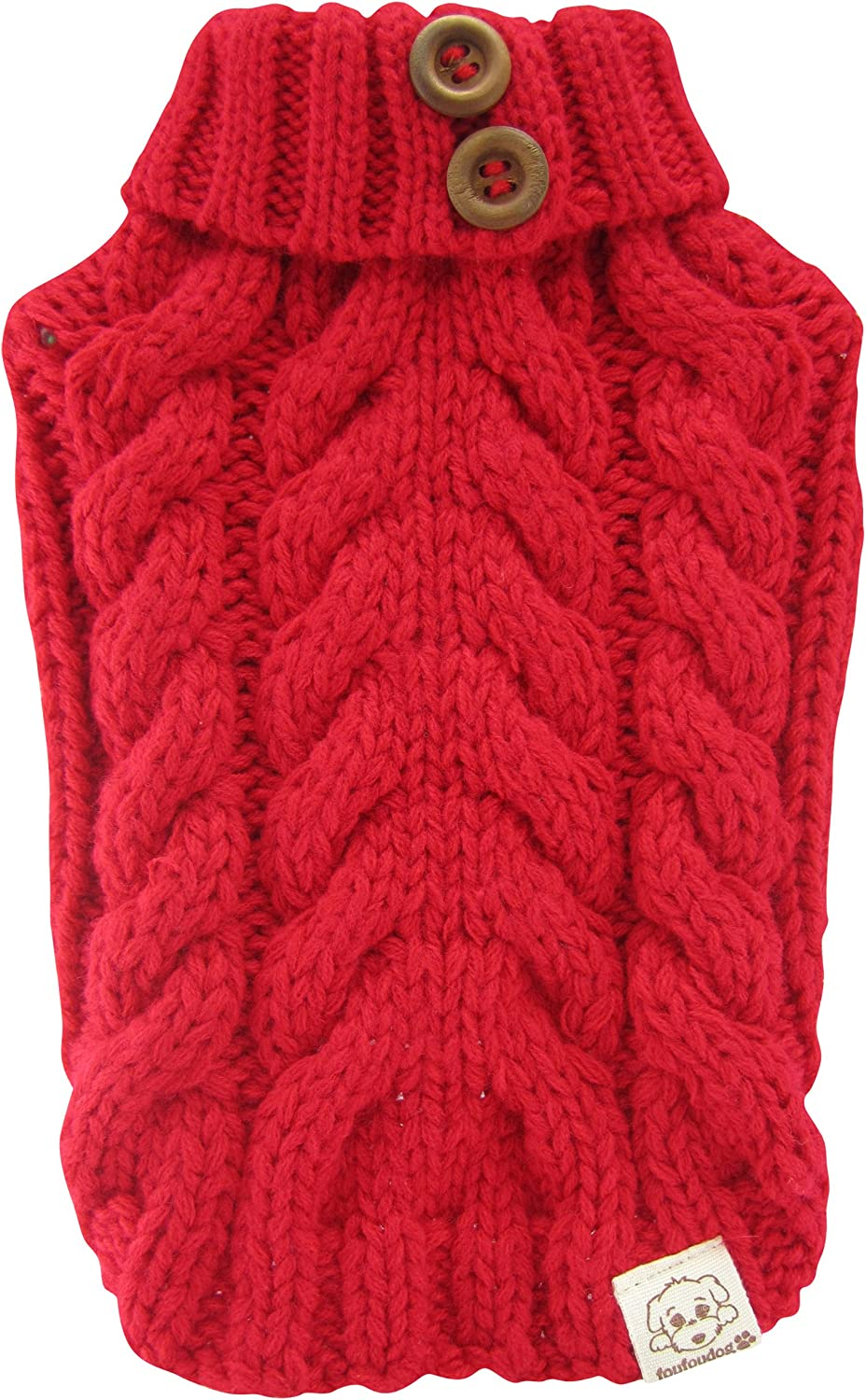 FouFou Dog Urban Knit Red Sweater X-Large Cheap mail Cheap super special price order shopping