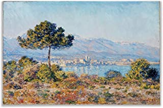 Monet Wall Art Collection View of Antibes from The Notre by Claude Monet Canvas Prints Wrapped Gallery Wall Art | Stretched and Framed Ready to Hang 30X40,